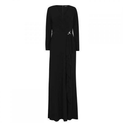 ラルフ ローレン Lauren by Ralph Lauren レディース パーティードレス ワンピース・ドレス Lauren Ralph Lauren Luana Long Sleeve Dress Black
