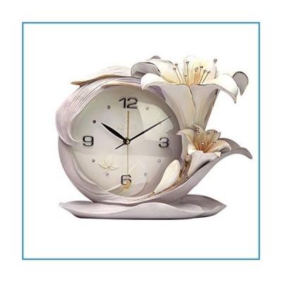 新品LANNA SHOP- European Modern Flower Table Clock Creative Resin Desk Decorative Clocks for Living Room (Color : #2)【並行輸入品】