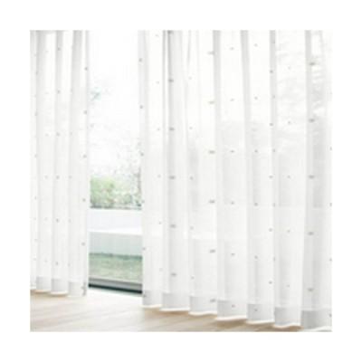 ユニベール レースカーテン セフィ BE/100x133cm 2枚組 ベージュ/幅100×高133cm