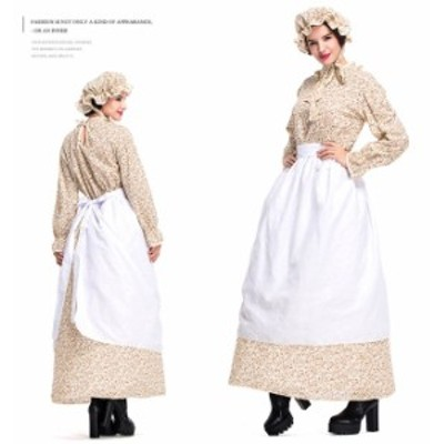 ハロウィン オオカミおばあさん 赤ずきん 童話 田舎風 アメリカン風 使用人 田園風 コスプレ衣装 ps3581
