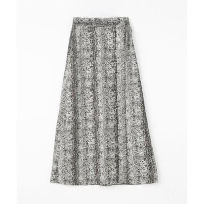 スカート BAUME パイソンプリント ラップマキシスカート