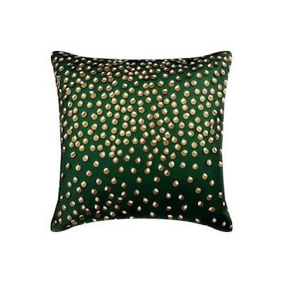 <新品>デコラティブ 緑 枕カバー?お洒落, 30 x 30 cm レザー&スエード ソファクッション, 孔雀 & アール