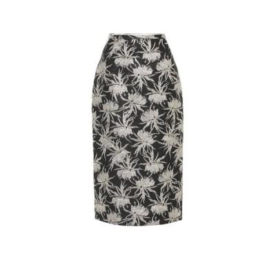 ロシャス Rochas レディース ひざ丈スカート スカート Oncidium floral pencil skirt Black