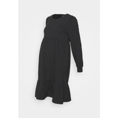 レディース ジャージドレス MLCARLY DRESS - Jersey dress - black