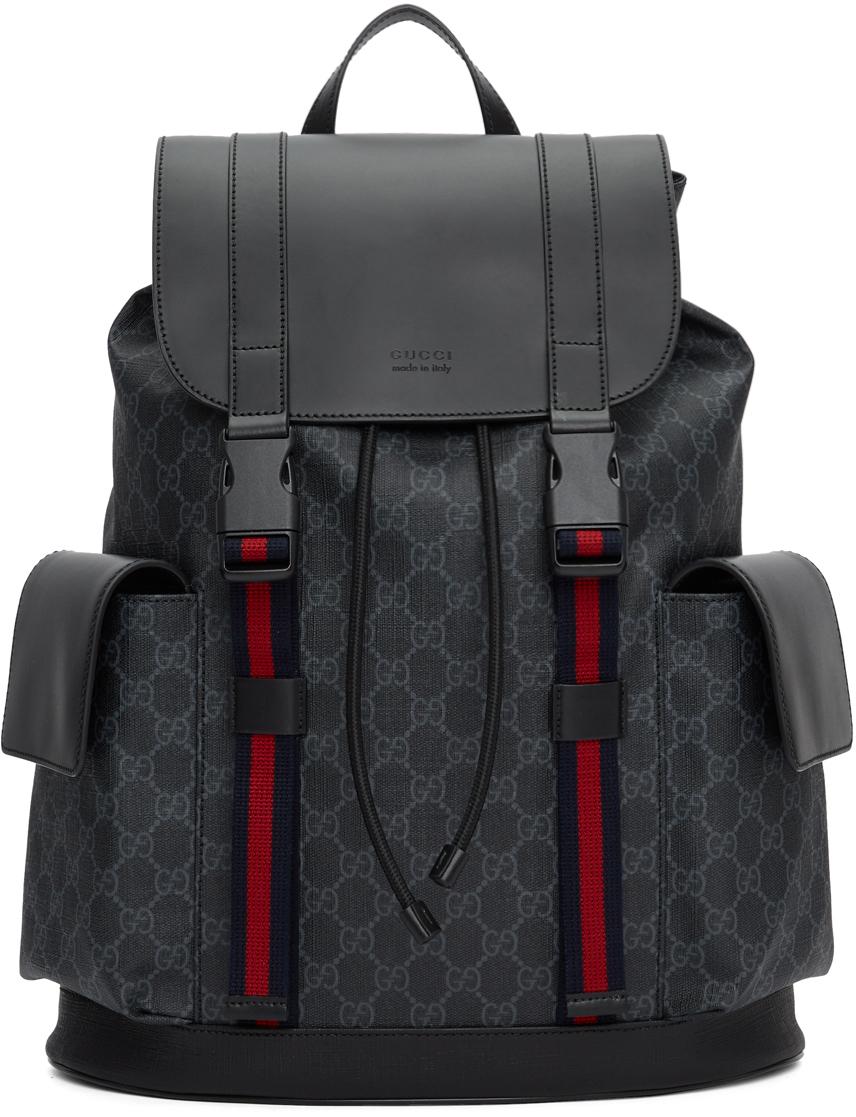 Gucci 黑色 GG Supreme Soft 双肩包