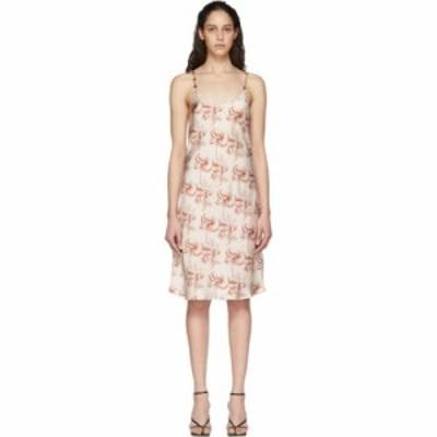 パコラバンヌ Paco Rabanne レディース ワンピース ワンピース・ドレス beige printed dress Versailles