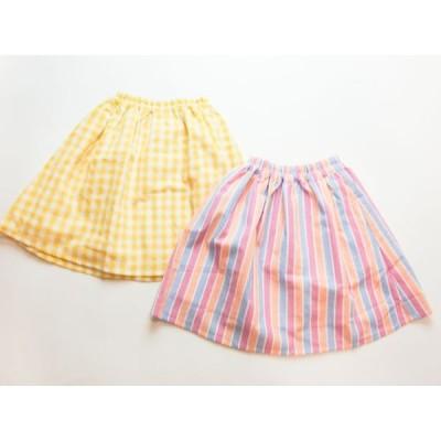 【60%OFF!! SALE!セール!】Seraph(セラフ2020夏)S218010 先染め膝下丈スカート(80〜140)