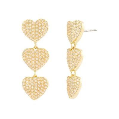 ケイトスペード Heart To Heart Earrings レディース ピアス イヤリング Clear/Gold