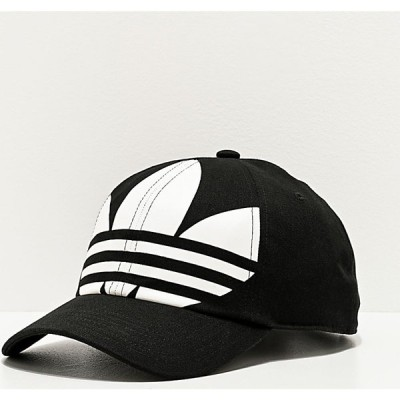 アディダス ADIDAS メンズ キャップ スナップバック 帽子 adidas Originals Relaxed Big Trefoil Black & White Strapback Hat Black