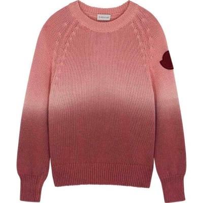 モンクレール Moncler レディース ニット・セーター トップス Girocollo pink tie-dyed cotton jumper Pink