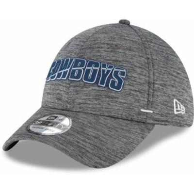 ニューエラ メンズ 帽子 アクセサリー New Era Men's Dallas Cowboys Grey Summer Sideline 39Thirty Stretch Fit Hat -