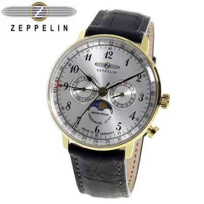 ツェッペリン ヒンデンブルク クオーツ メンズ 腕時計 7038-1 シルバー シルバー