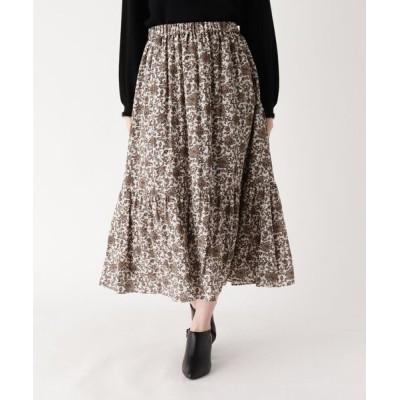 WORLD ONLINE STORE SELECT / 【手洗い可】ボタニカル柄ロングフレアスカート WOMEN スカート > スカート