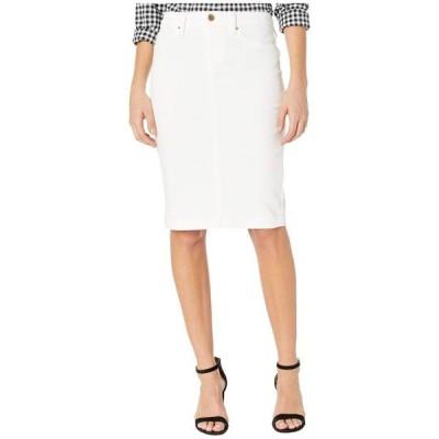 ブランクニューヨーク レディース スカート ボトムス Denim Pencil Skirt in Great White