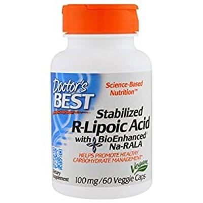 送料無料*ベスト 安定型 R型 アルファ リポ酸(Na-RALA)100mg 60ベジカプセル ドクターズベスト(Doctor s Best) [並行輸入品]*国内配送