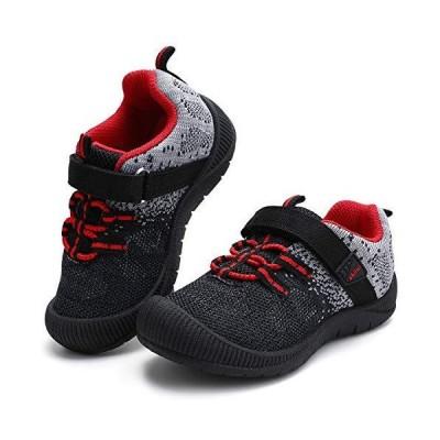 okilol 幼児用靴 男の子&女の子 バンプトゥスニーカー US サイズ: 9 Toddler カラー: ブラック 並行輸入品