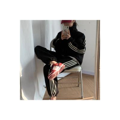 【送料無料】秋冬 韓国風 ファッション セット 女 トレンドカラー 個 ベルベット タ   346770_A64429-5733685