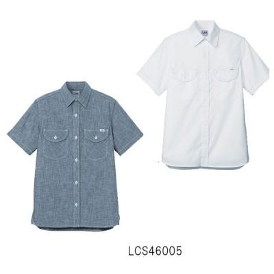 Lee×BONMAX メンズシャンブレーシャツ 半袖 Lee リー S〜XXL ストレッチシャンブレー メンズ カフェ スタイル