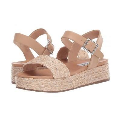 Steve Madden スティーブマデン レディース 女性用 シューズ 靴 ヒール Accord Platform Sandals - Natural Raffia
