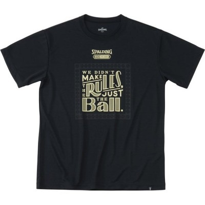 Tシャツ-125TH-ボール  (SPALDING)スポルディング バスケットハンソデTシャツ (smt191170-1000)