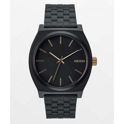 ニクソン NIXON WATCHES レディース 腕時計 Nixon Time Teller Matte Black & Gold Analog Watch Black/gold