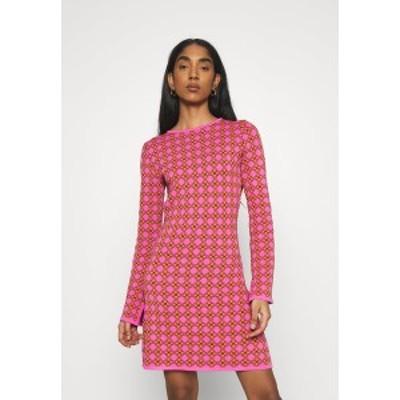 ネバーフリードレスド レディース ワンピース トップス MOSAIC TILE SWING DRESS - Jumper dress - pink pink