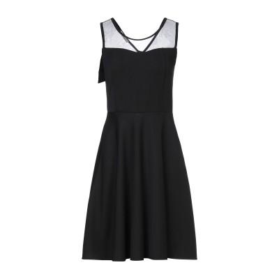 CARLA GOLI ミニワンピース&ドレス ブラック 2 ポリエステル 89% / ポリウレタン 11% ミニワンピース&ドレス