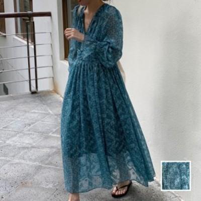 韓国 ファッション レディース ワンピース 春 夏 新作 カジュアル naloJ993  カシュクール ドレープ シアー 背中見せ シンプル コーデ 定