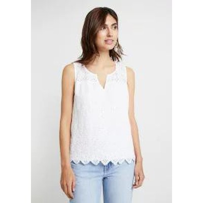 GAP レディースシャツ GAP EYELET TANK - Blouse - optic white optic white
