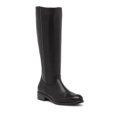 イタリアンシューメーカー レディース ブーツ&レインブーツ シューズ Amelia Knee-High Studded Leather Boot BLACK