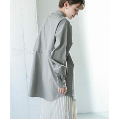 KBF/ケービーエフ セパレートデザインシャツ FOG BLUE one