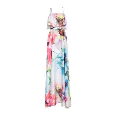 MISS SONIA PEÑA ロングワンピース&ドレス ホワイト 36 ポリエステル 100% ロングワンピース&ドレス