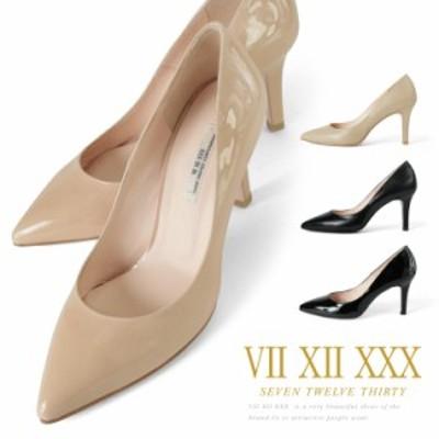 パンプス セブントゥエルブサーティー ハイヒール ヒール8cm VII XII XXX ヒール 靴 (105187e) 美脚 結婚式 送料無料
