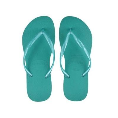 ハワイアナス ユニセックス アダルト 靴HAVAIANAS ユニセックス スリム サンダル SOLID LAKE グリーン BRA37/38 US 7/8W 6/7M EUR39/40