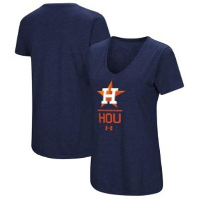 アンダーアーマー レディース Tシャツ トップス Houston Astros Under Armour Women's Team Lock-Up Tri-Blend T-Shirt Navy