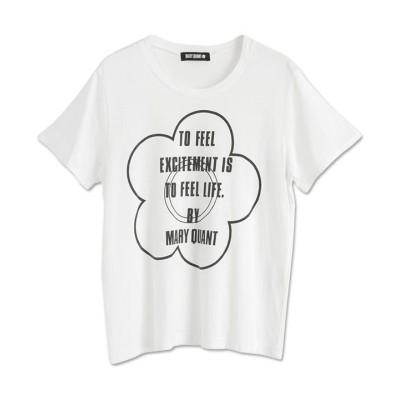 (MARY QUANT/マリークヮント)ワンカラーメッセージデイジー Tシャツ/レディース ホワイト