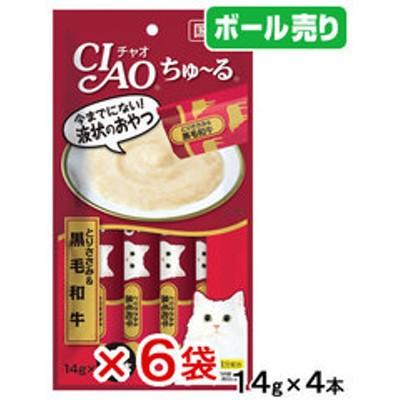いなば CIAO(チャオ) ちゅ~る とりささみ&黒毛和牛 14g×4本 6袋 国産 関東当日便
