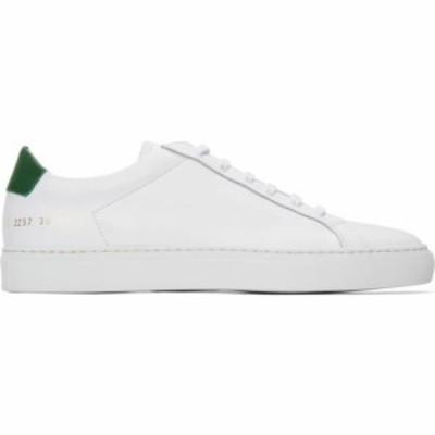 コモン プロジェクト Common Projects メンズ スニーカー シューズ・靴 white and green retro low sneakers White/Green