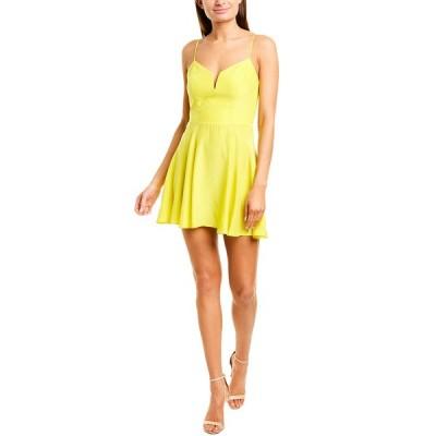 アマンダ アプリチャード ワンピース トップス レディース Amanda Uprichard Silk Mini Dress sunny