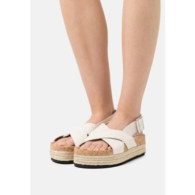 レディース 靴 シューズ VEGAN JANNIKE - Platform sandals - white dusty light