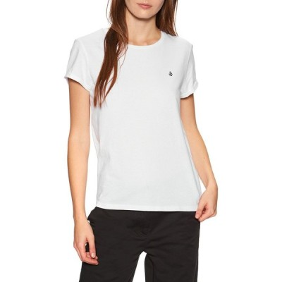 ボルコム Volcom レディース Tシャツ トップス stone blanks tee short sleeve t-shirt White