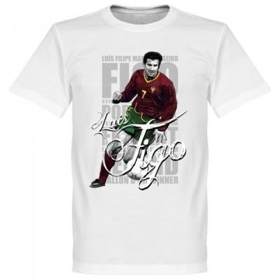ポルトガル代表 ルイス・フィーゴ Tシャツ SOCCER レジェンド サッカー/フットボール ホワイト