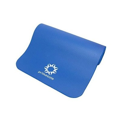 """(新品) Primasole Yoga Mat with Carry Case Comfort Exercise Mat for Yoga, Pilates Fintess. Mats for Women & Men.1/2"""" Thick 72"""" L x 24"""""""