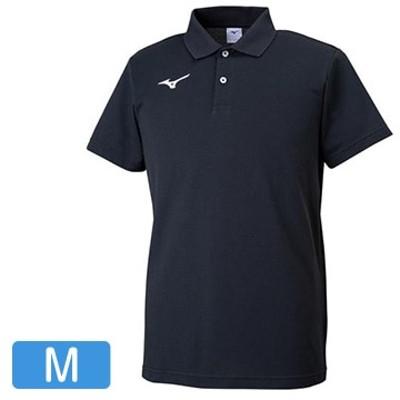 ■ポロシャツ ブラック×ホワイト【ユニセックス】 サイズ:M 32MA919509M