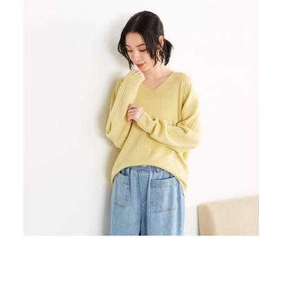 【一部店舗限定】ホールガーメントVネックニットプルオーバー