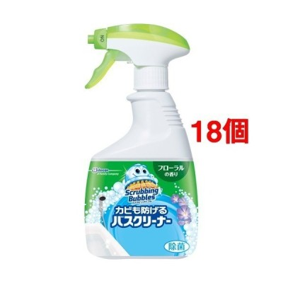 スクラビングバブル カビも防げる バスクリーナー フローラルの香り 本体 ( 400ml*18個セット )/ スクラビングバブル