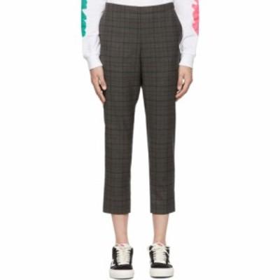 シックススリーナインセブン 6397 レディース ボトムス・パンツ Grey Wool Pull-On Trousers Grey plaid
