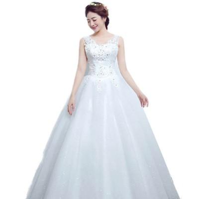 ドレス花嫁ドレスウェディングドレス二次会ドレスパーティードレス結婚ドレスイブニングドレスキャバ嬢ドレスロング可愛い大人気編み上げ白