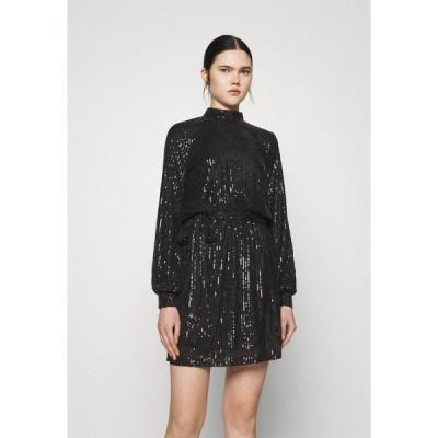 ニリーバイネリー ワンピース レディース トップス HIGH NECK SEQUIN DRESS - Cocktail dress / Party dress - black