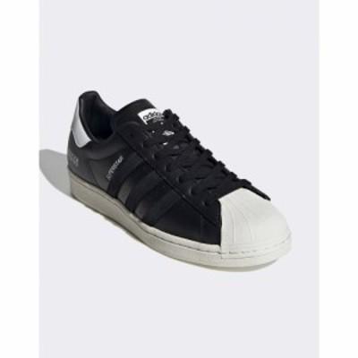 アディダス adidas Originals メンズ スニーカー シューズ・靴 Sigseries superstar trainers with subtle branding in black ブラック